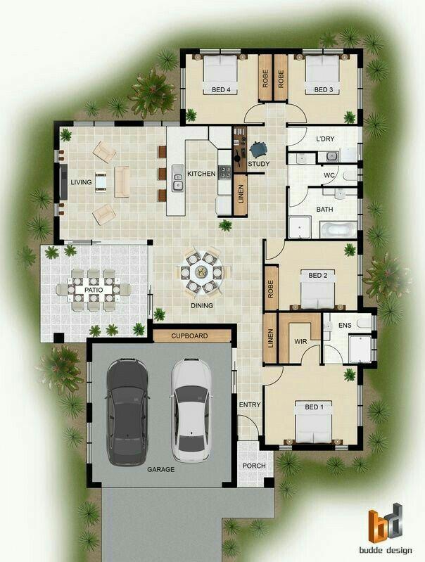 Pin by Planos de viviendas on Planos de casas Pinterest House - plan maison france confort
