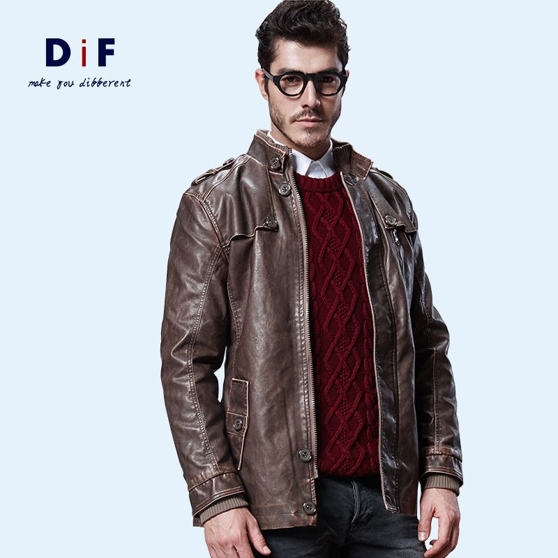 Popular Leather Military Jacket Men-Buy Cheap Leather Military ...