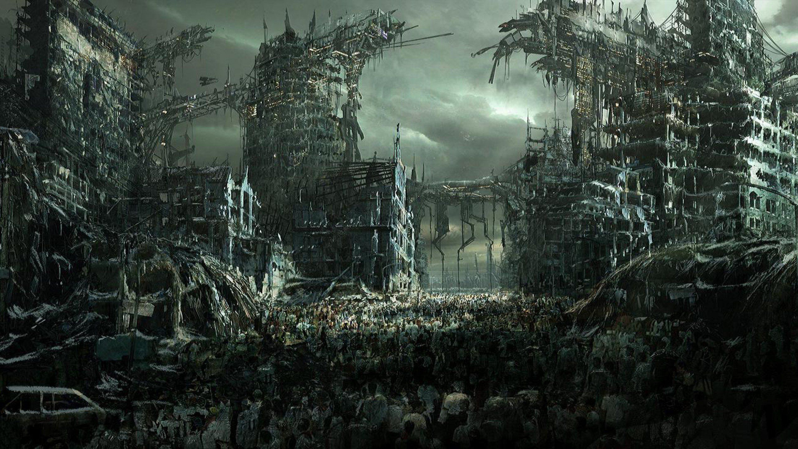 Wallpaper Digital Art Miscellaneous Apocalypse Zombie Pictures Jpg 2560 1440 Zombie Wallpaper Zombie Background Zombie
