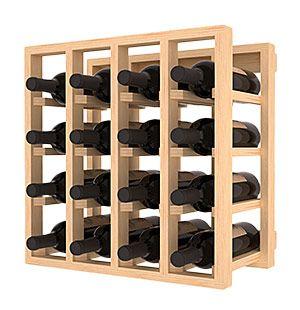 16 Bottle Lattice Cube Wine Rack Porta Vinho Adega De Madeira