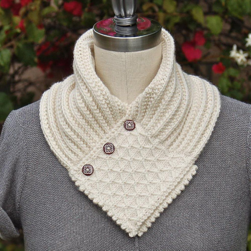 Quilted Lattice Ascot | Ascot style, Knitting patterns and Clever