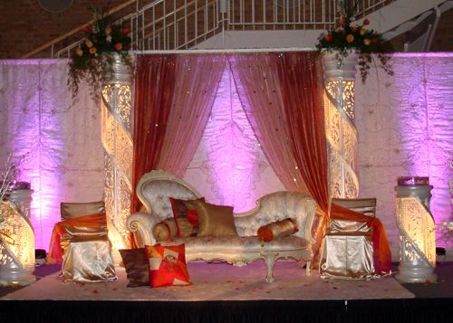 Pakistani wedding stage decoration decoration first day for Pakistani bedrooms decoration