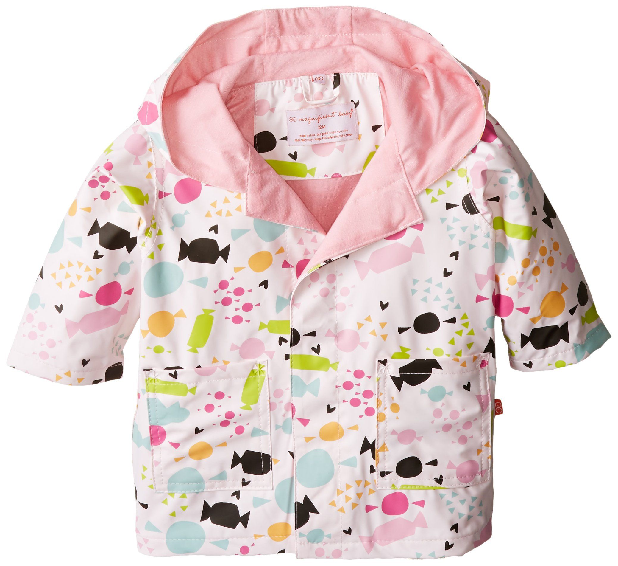Magnificent Baby Baby Girls Newborn Sweet Treats Raincoat Multi 24