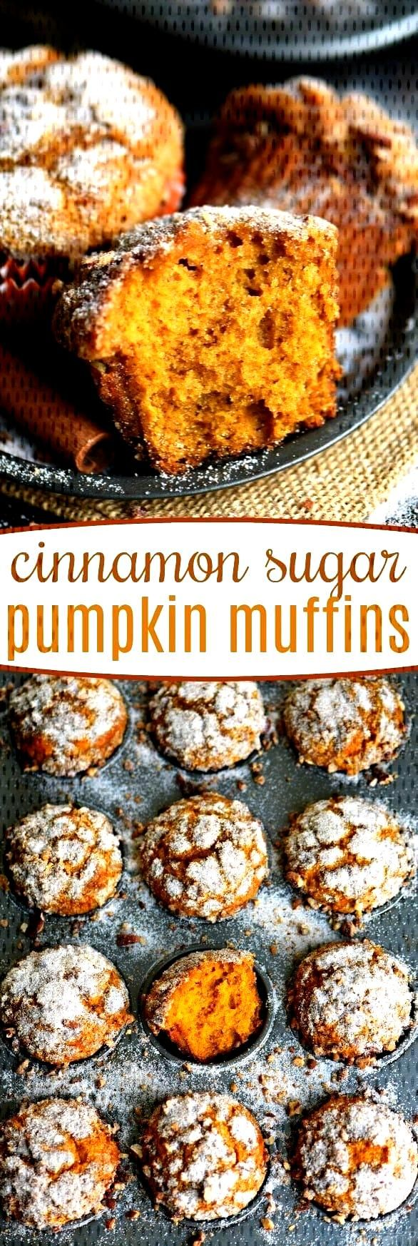Cinnamon Sugar Pumpkin Muffins Say hello to fall with these delicious Cinnamon Sugar Pumpkin Muffin