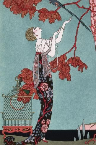 'Fashion Illustration, 1914' Art Print - Georges Barbier | Art.com