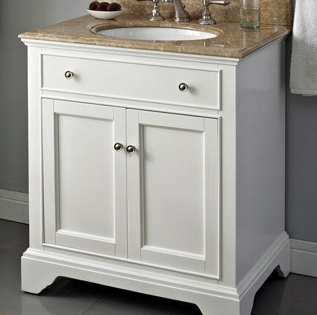 Fairmount Framingham Bathroom Vanity  Polar White Without Top Mesmerizing 30 Bathroom Vanity With Drawers Review