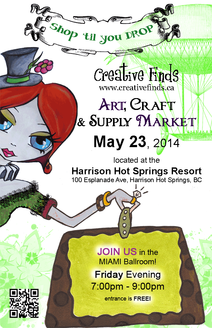 Art Retreat VENDOR NIGHT !  promo promotional advert card #artretreat #intotheheart #creativefinds #free