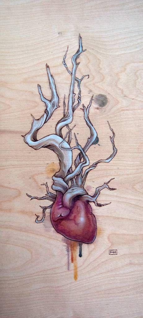 Driftwood Heart 03 | Ideas | Pinterest | Driftwood, Anatomy art and ...