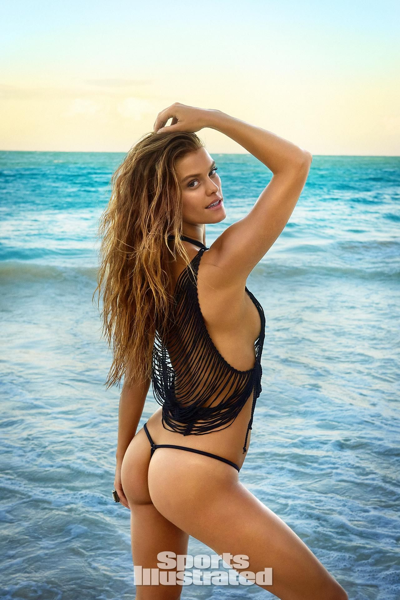 fe7d3bb04495c Nina Agdal was photographed by Ruven Afanador in Zanzibar. Top by La Perla.  Swimsuit by TeenyB Bikini Couture.