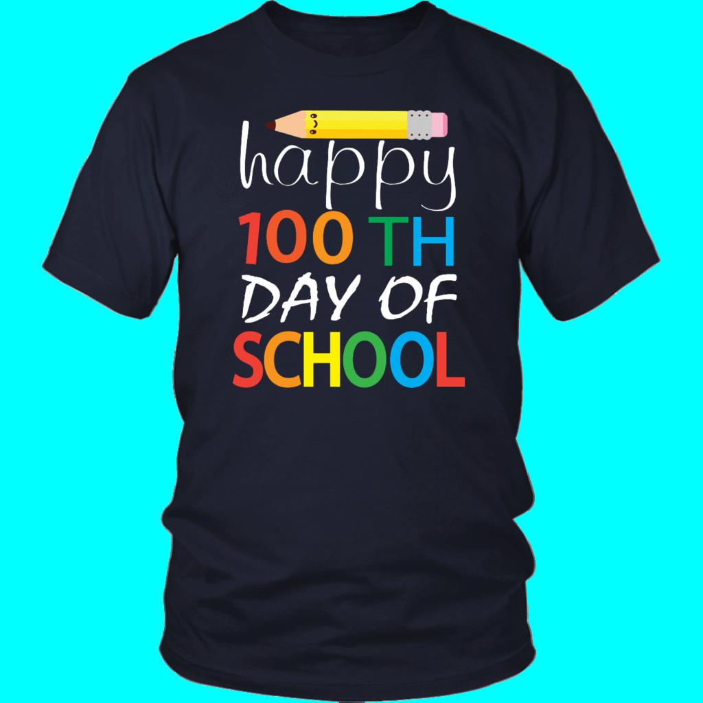 Cute Pencil Happy 100th Day Of School Teacher Stut T Shirt