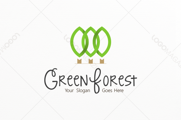 Check out Green Forest Logo by LogoMagazin on Creative