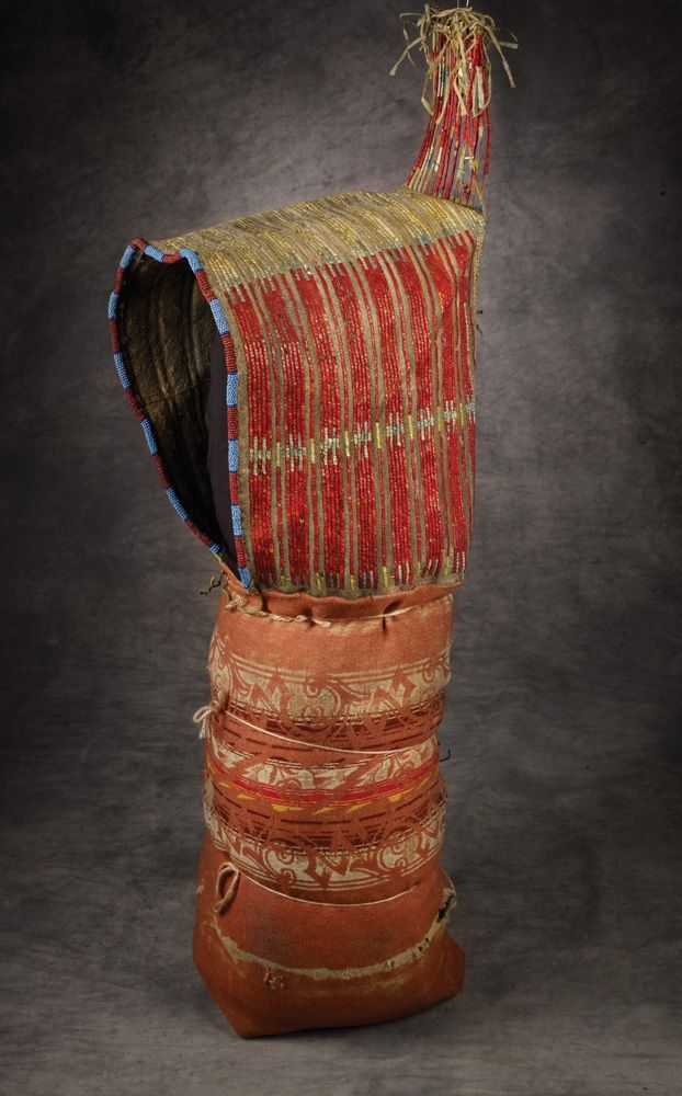 Sioux Beaded and Quilled Cradle, c 1800
