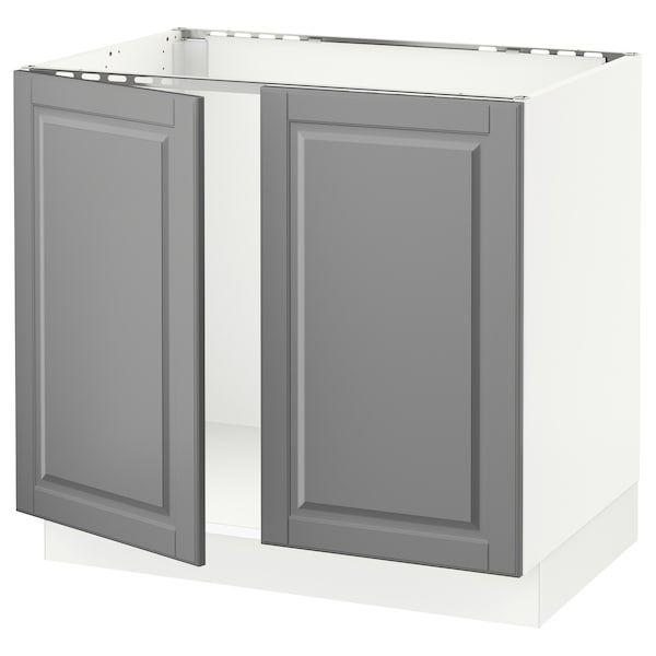 Best Sektion Base Cabinet For Sink 2 Doors White Bodbyn 400 x 300