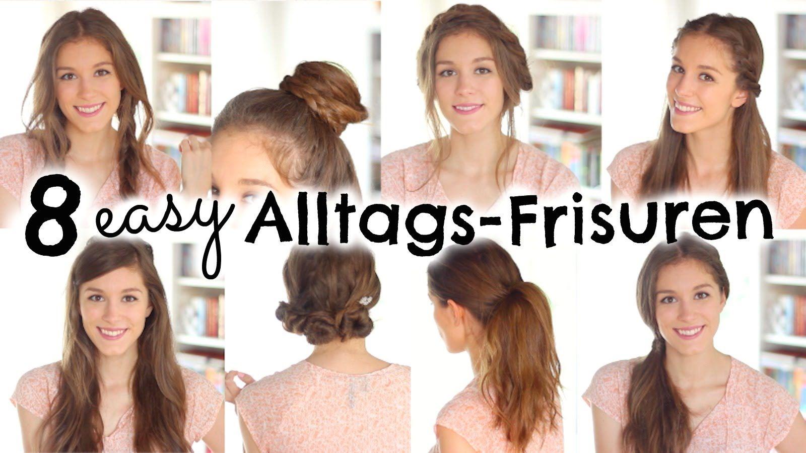8 Easy Frisuren Fur Den Alltag Schule Barbieloveslipsticks Haar Ideen Fur Die Schule Frauen Frisuren Haar Styling