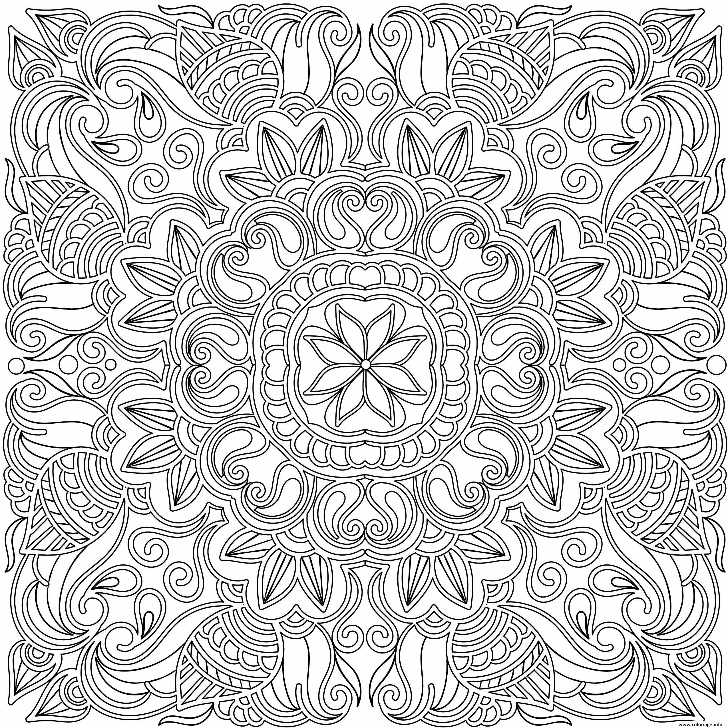 Coloriage adulte mandala doodle dessin imprimer a coloring books pattern coloring - Mandala adulte ...