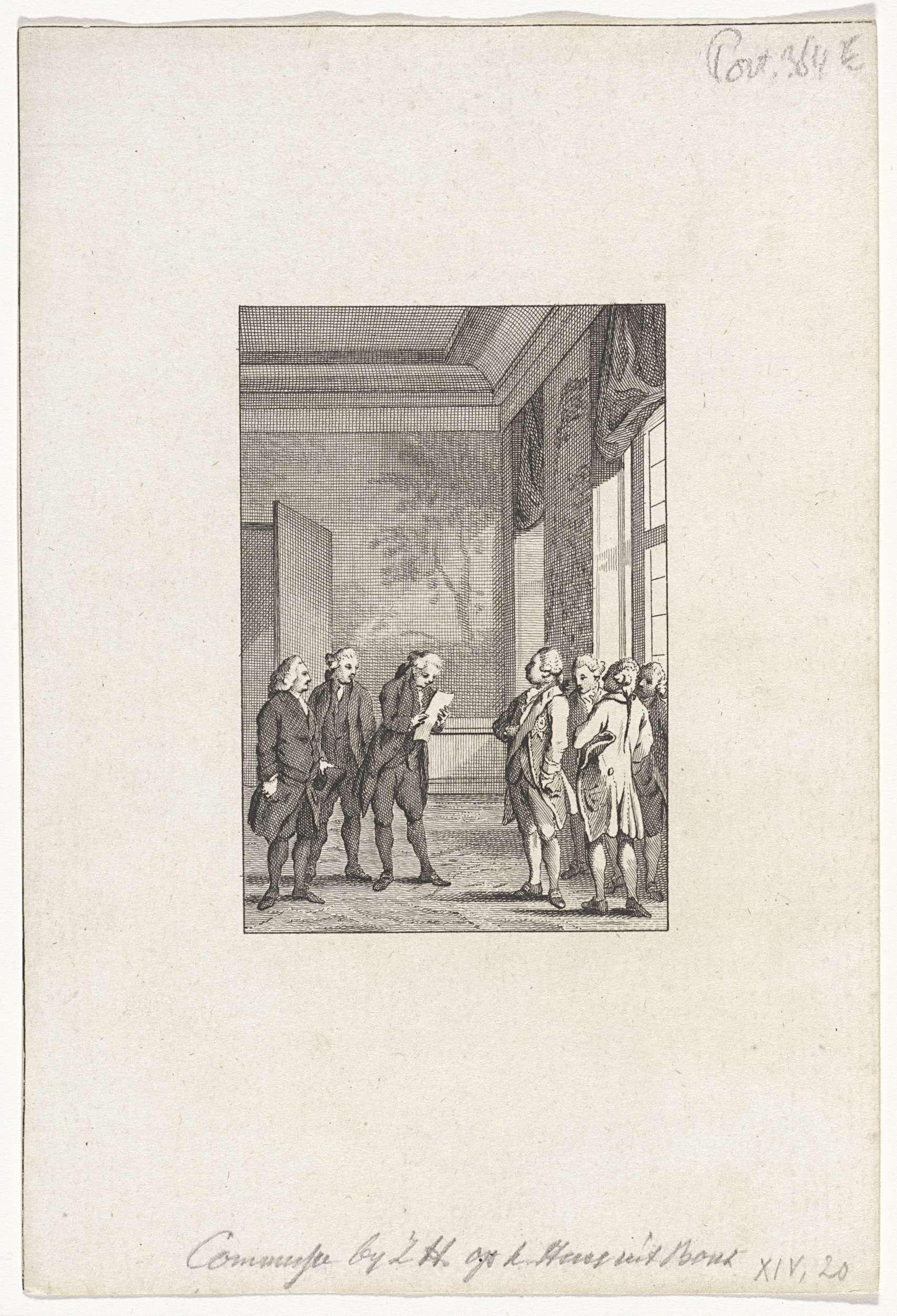Reinier Vinkeles | Commissie bij de koning, 1781, Reinier Vinkeles, Cornelis Bogerts, Jacobus Buys |