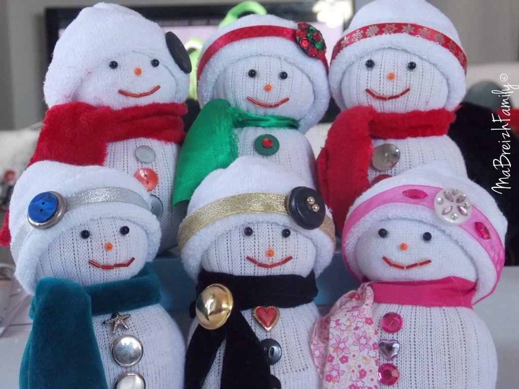 diy de noël : un bonhomme de neige en chaussette * ⋆ | sock + felt