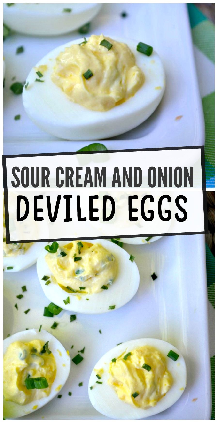 Sour Cream And Onion Deviled Eggs In 2020 Appetizer Recipes Sour Cream And Onion Chicken Appetizers