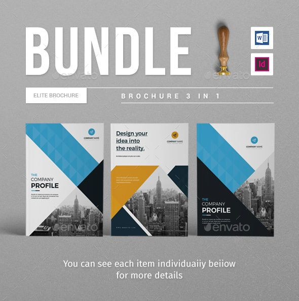 Company Brochure Bundle Brochures, Brochure template and Template - landscape brochure