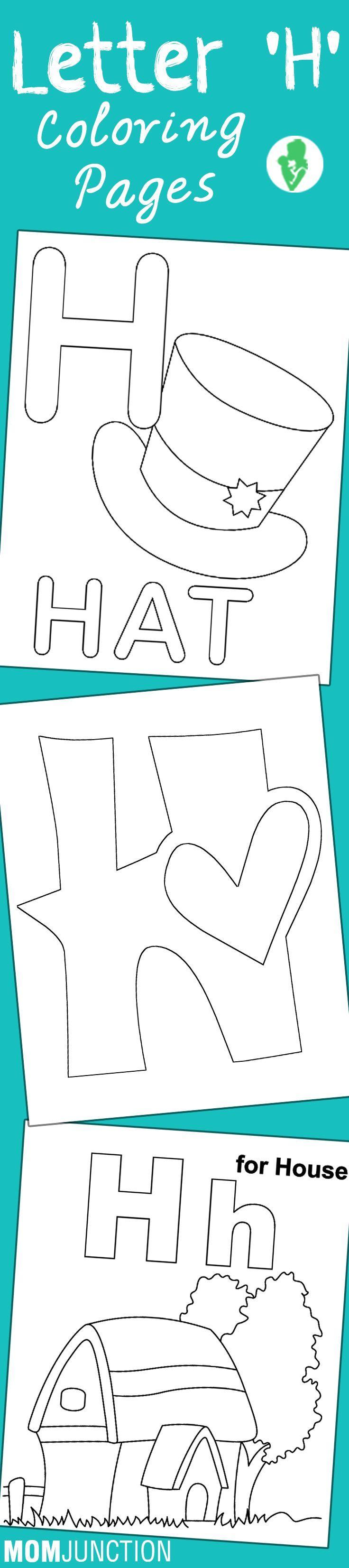 Top 25 free printable letter h coloring pages online worksheet pinterest preschool lettering and preschool letters