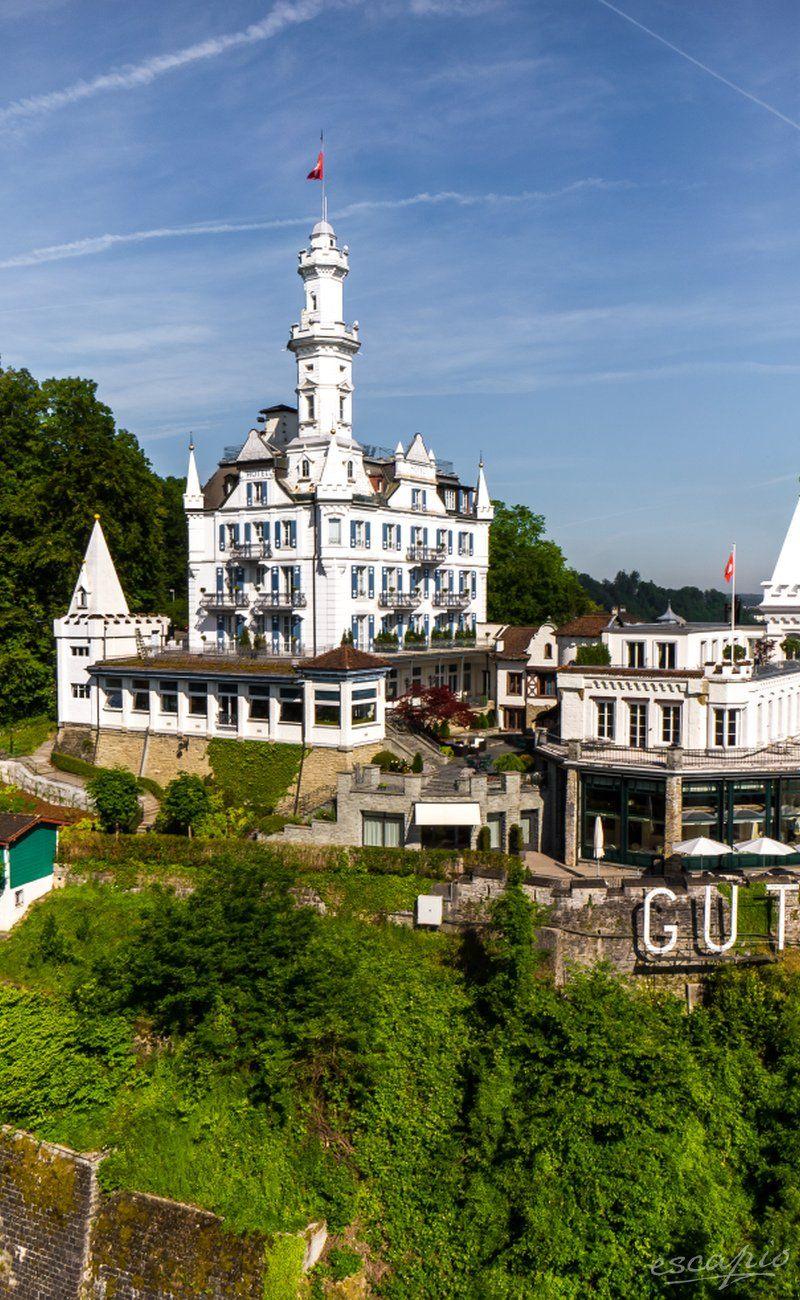 Ein Schlosshotel in der Schweiz: Château Gütsch in Luzern, Schweiz