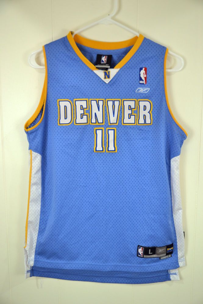 cd04eaa16 Reebok Denver Nuggets Earl Boykins NBA Basketball Jersey Youth Large 14-16  Sewn  Reebok