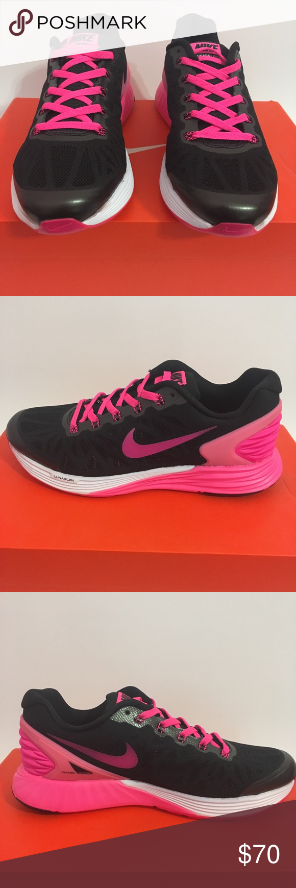 buy online 3b64b e62fd Nike Lunarglide 6 Size 5Y Youth Girls Womens 100% Authentic shoes. Brand  new with box and never worn. I will add extra pink shoe laces for free.