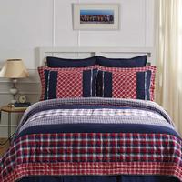 Star Market Comforter and Shams Reversible Quilt-Bundle