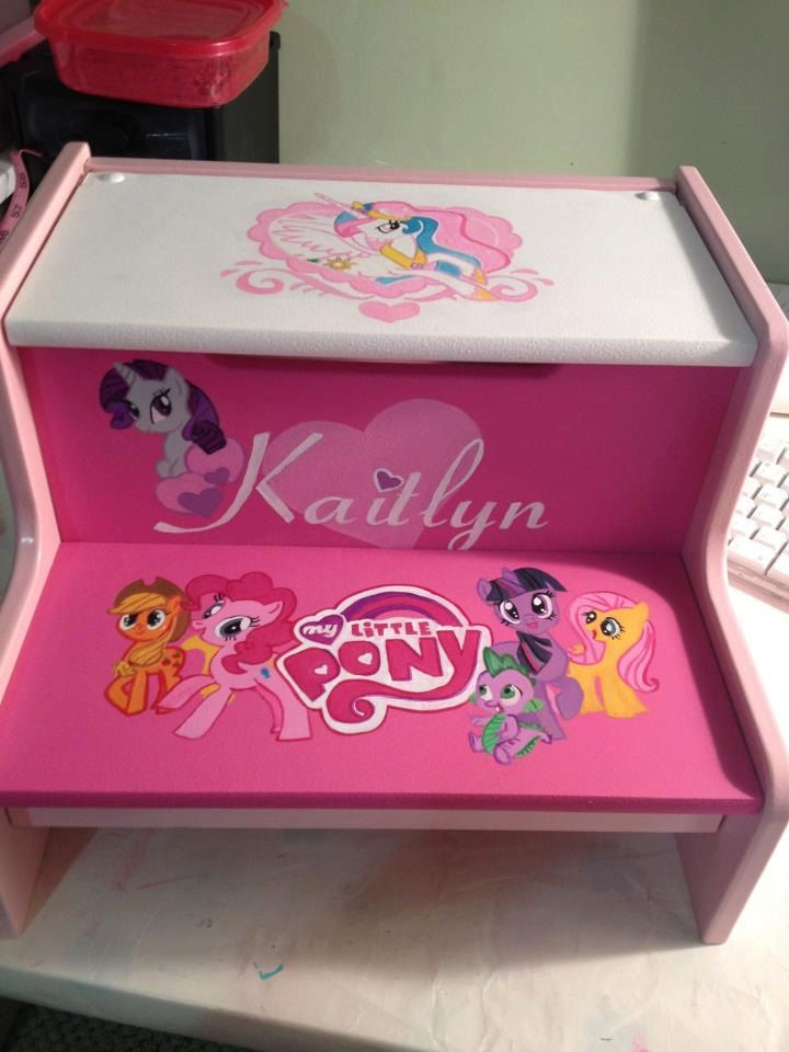 Personalized My Little Pony Child S Step Stool 65 00