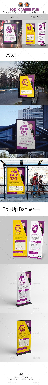 Job Fair Poster u0026 Roll Up Banner Template