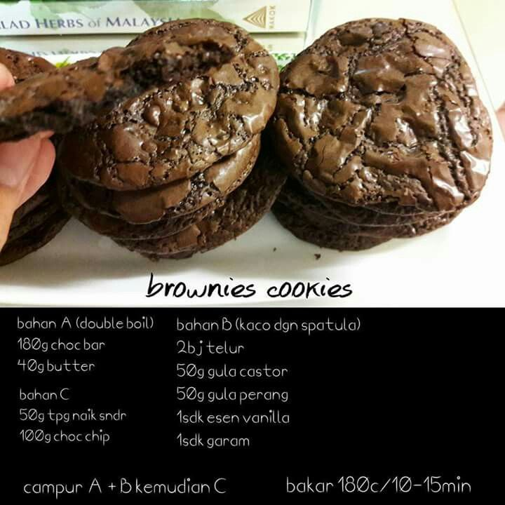 Brownies Cookies Brownie Cookies Dessert Recipes Yummy Cookies