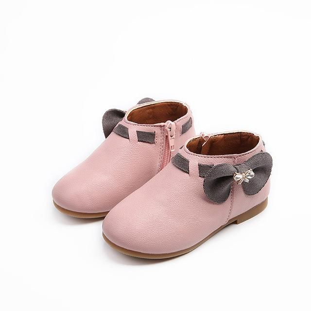 2031a3142761 Newest Toddler Baby Girls Children Fashion Bowknot Sneaker Boots Zipper  Casual Shoes Little princess Anti-slip Spring Autumn