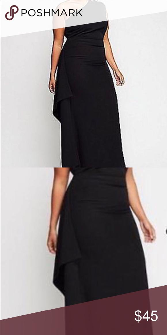 0f4db472158bde Christian Siriano lane bryant black dress gown New Christian Siriano for  lane Bryant black asymmetrical dress. New without price tags.