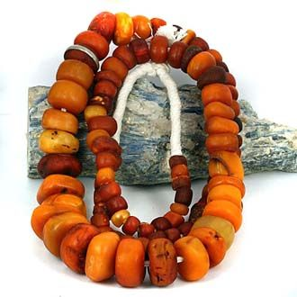 Large Old Trade Amber Bead CollectionMaterial:AmberOrigin:Baltic - African TradedCondition:Worn Condition. A Few Chips, Cracks & DigsAge:Est...