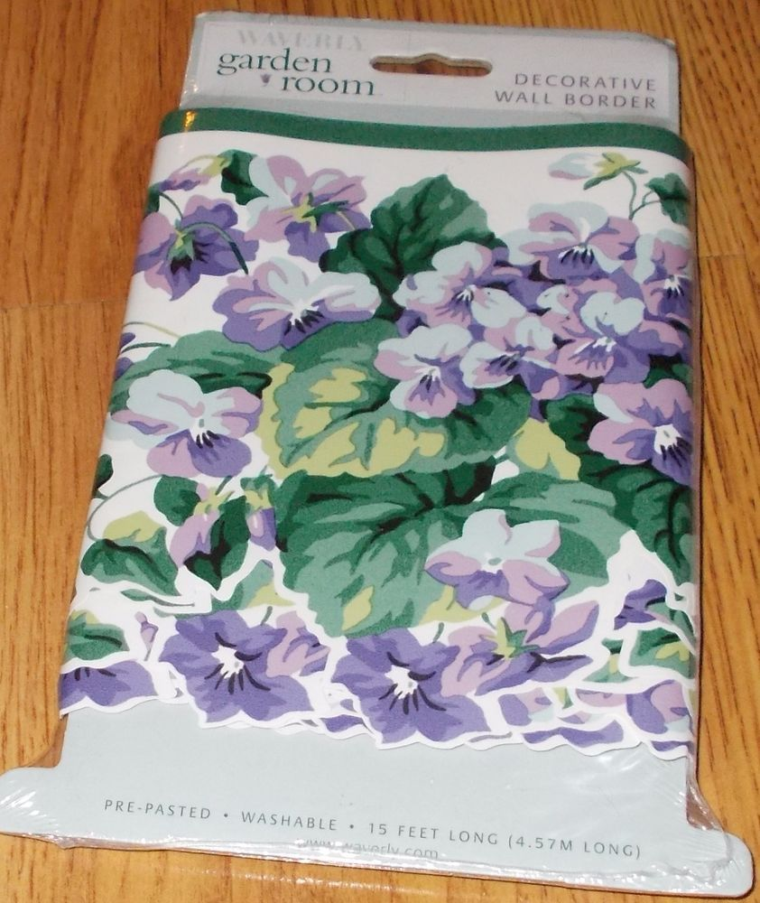 Waverly Garden Room Sweet Violets Wall Wallpaper Border Scallop