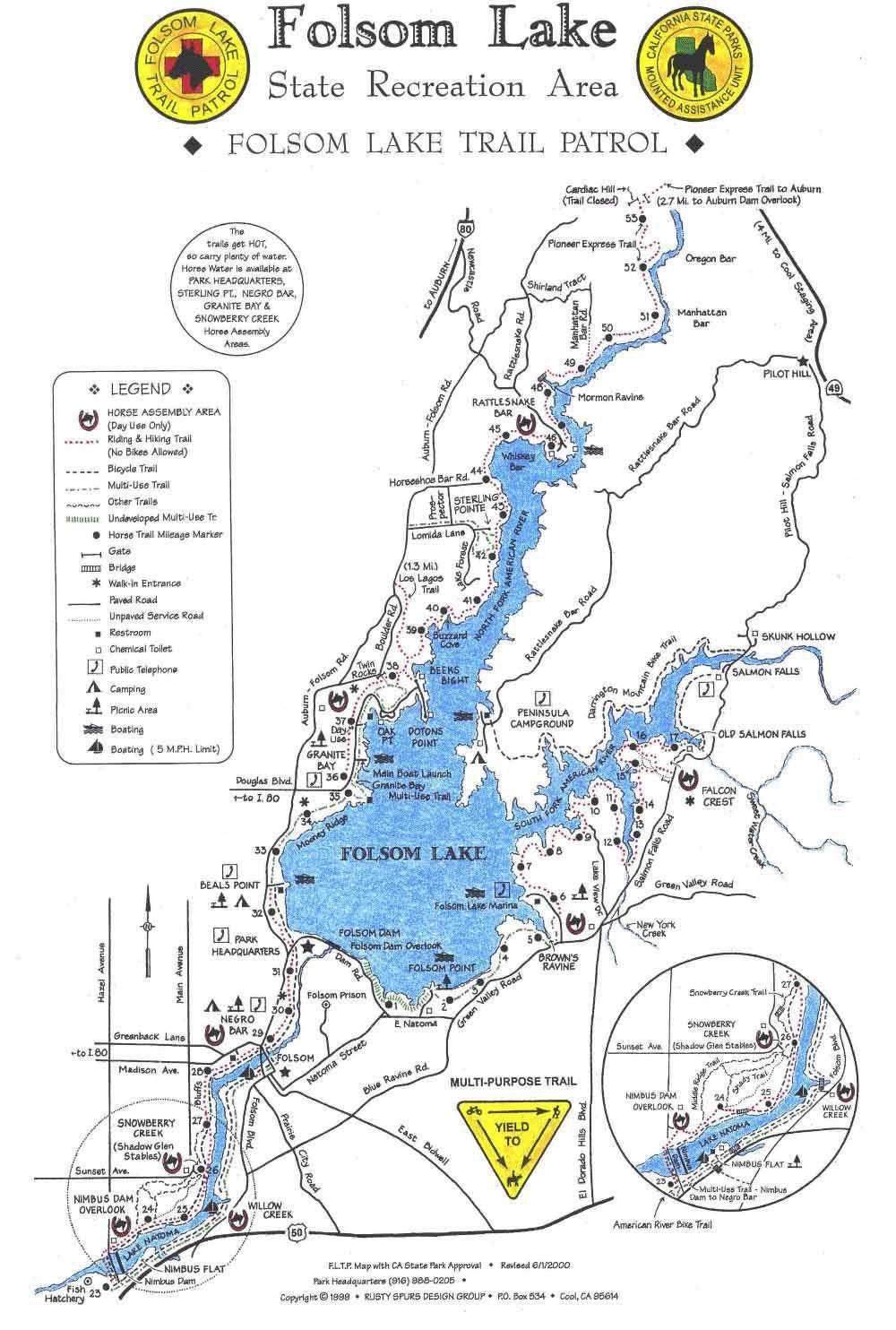 Folsom Lake Trail Map