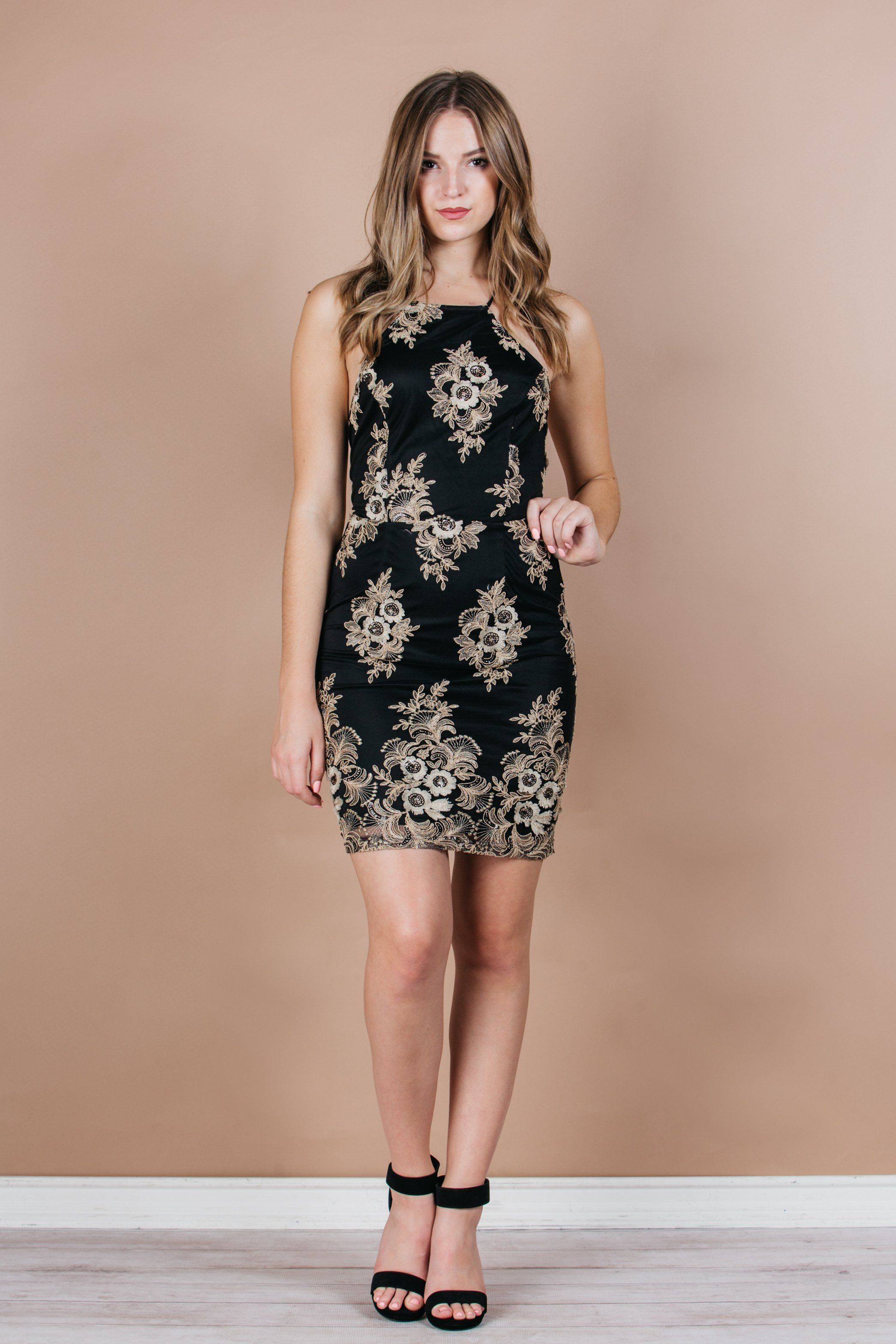 a8a77e9835 Touch of Gold Cocktail Dress party dress