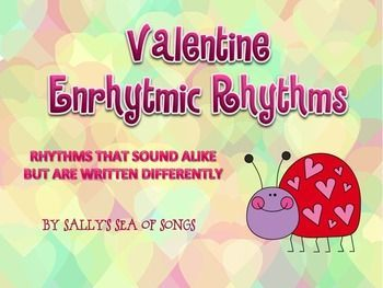 """This set of PowerPoint presentations contains a short traditional """"Roses are red, violets are blue,"""" Valentine's poem, set in a triple meter chant, along with the rhythm patterns to match the chant phrases. The rhythm patterns are presented in both 3/4 an"""
