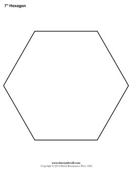 image regarding Printable Hexagon Template titled Printable hexagon templates for your inventive craft or