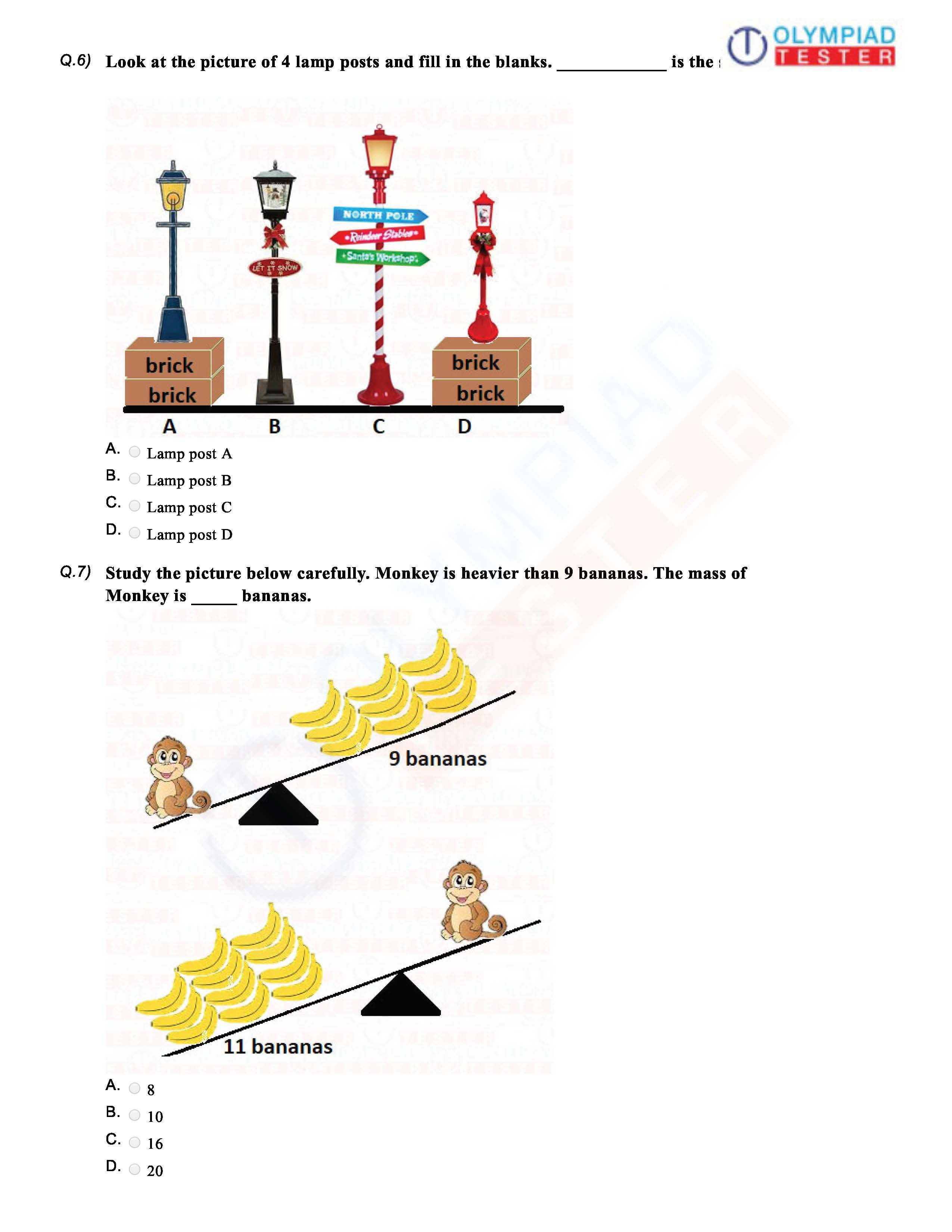 Cbse Maths Class 1 Sample Papers Class 1 Maths 1st Grade Math Worksheets Math Olympiad