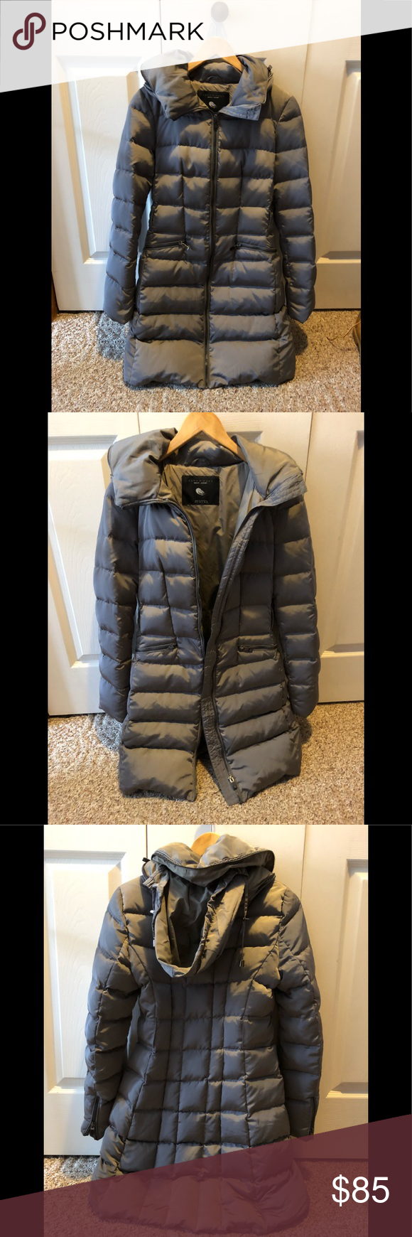 37134a63d1 Zara Woman Down Jacket Great condition Zara Woman Down puffer Jacket. Color  gray. No rips