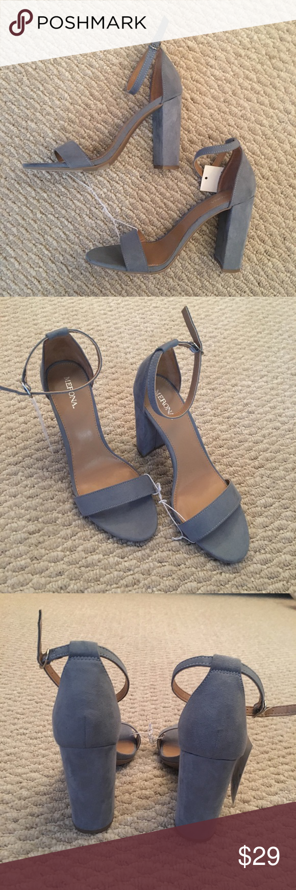 e660e6b21f0 Merona lulu s women block heel sandal NWT Powder Blue Sandals. Elegant and  understated