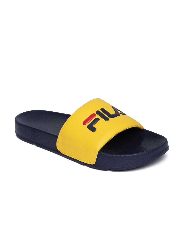 FILA Navy Blue \u0026 Yellow Slip-On Flip