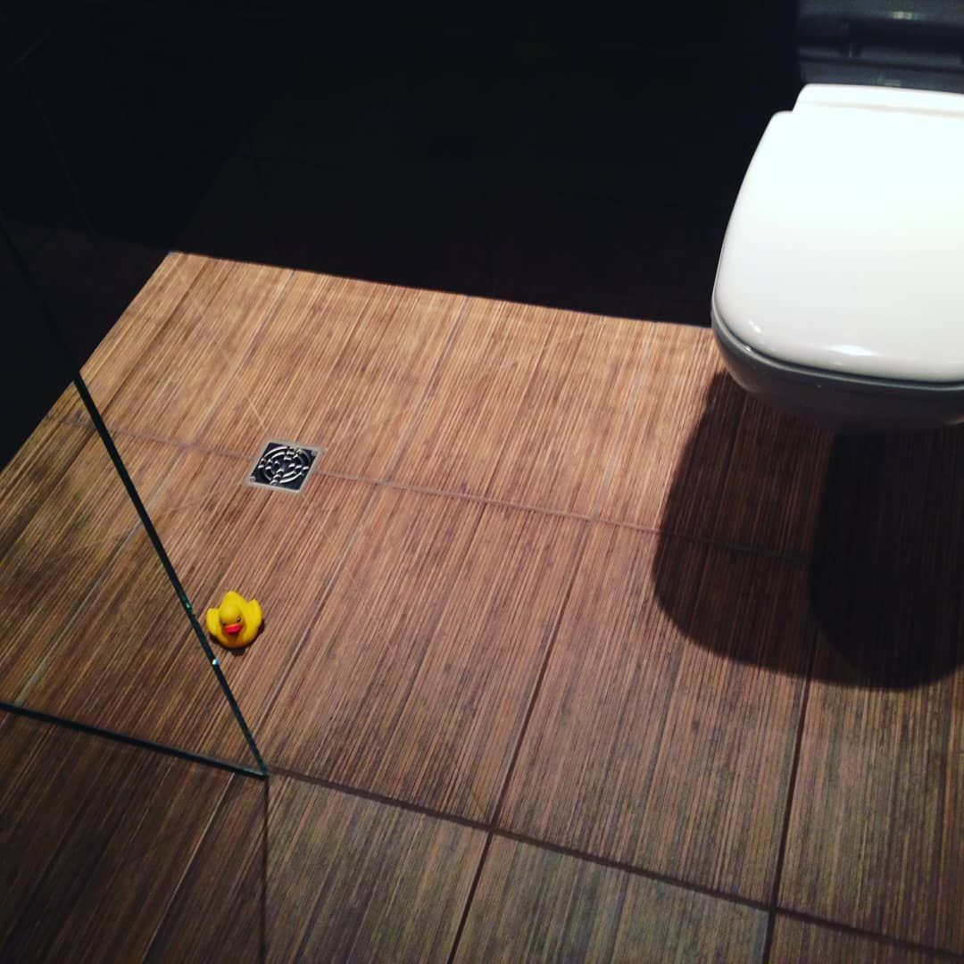 For our 100th post! An interesting bathroom floor