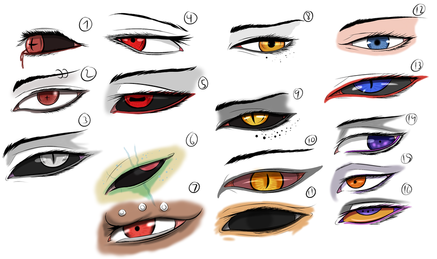 Character Eye (16 evil) Study/Practice by *Arrancarfighter