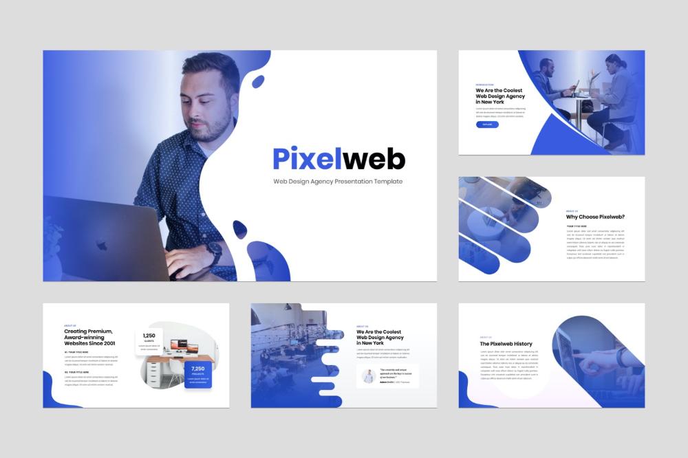 Web Design Agency Presentation Powerpoint Template In 2020 Web Design Agency Powerpoint Templates Web Design