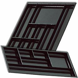 Organisateur de tiroir Cep 7 cases noir | Bureau sur mesure ...