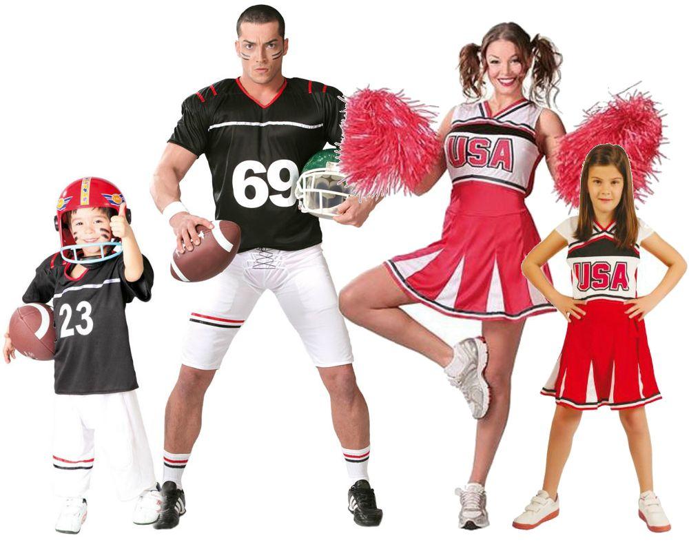 Familia De Jugadores De Rugby Animadoras Disfraces Carnaval Disfracesparagrupos Disfraz Animadora Disfraces Disfraces En Familia