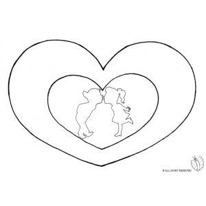 Disegno di cuori san valentino da colorare disegni da for Disegni di cuori da stampare gratis