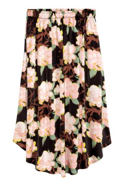 Wzorzysta Spodnica Czarny Kwiaty Ona H M Pl Skirt Pattern Fashion Womens Skirt
